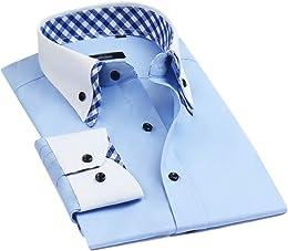 Chemise coupe ajustée double col italien à manches