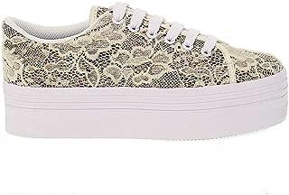 JC PLAY BY JEFFREY CAMPBELL Luxury Fashion Womens JCPLAZOMGC Beige Sneakers   Season Outlet