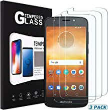 [3 Pack] SENON Compatible with Moto E5 Play/Moto E Play (5th Gen) Screen Protector,Tempered Glass,Crystal Clear,Anti-Bubble,Anti-Fingerprint,Lifetime Replacements Warranty