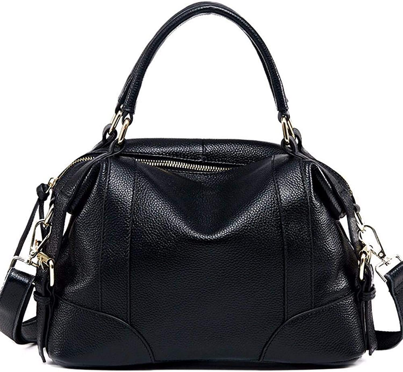 Ladies Handbag Leather Handbag Tote Bag Single Shoulder Oblique Lounge (color   B)