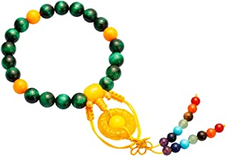 TUMBEELLUWA 21 Mala Beads Bracelets Healing Crystal Stretch Yoga 7 Chakra Bracelet Ornament Handmade Jewelry for Women Men