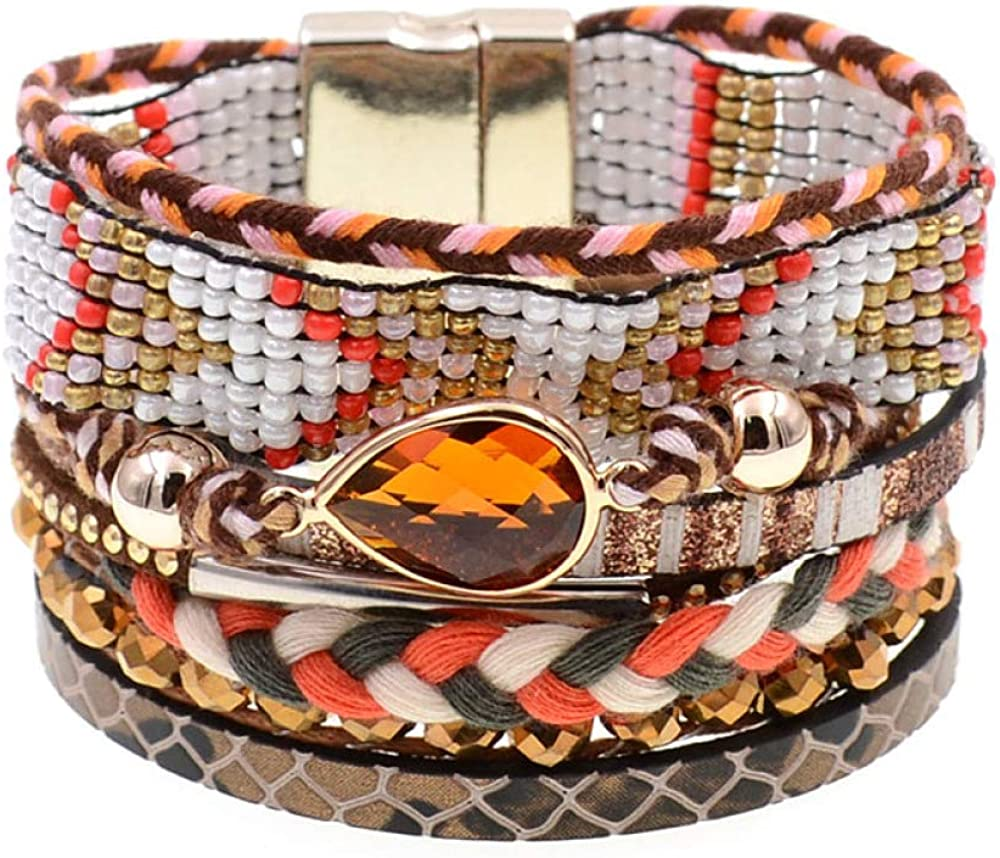 Women Bracelets Leather Bohemia Beaded Bra Sales of SALE items from new works Dallas Mall Charm Beads