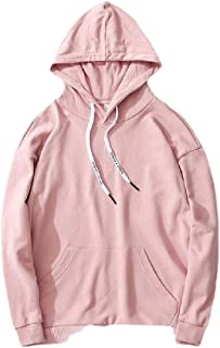 Macondoo Men's Pullover Hooded Casual Long Sleeve Top Pockets Sweatshirts
