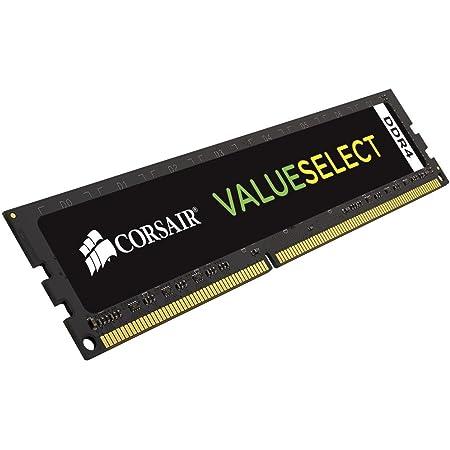 Corsair Value Select - Módulo de Memoria Principal de 4 GB (1 x 4 GB, DDR4, 2133 MHz, CL15), Negro (CMV4GX4M1A2133C15)