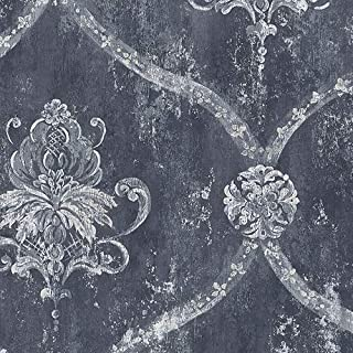 Best navy blue vintage wallpaper Reviews