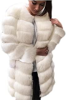 Women's Faux Fur Long Parka Outwear Oversized Long Sleeve Luxury Chunky Cardigan Tops for Work Daily