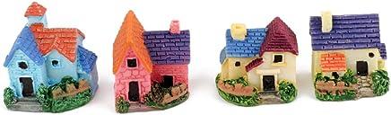 Generic Toys Dollhouse Bonsai Craft Garden Resin Landscape DIY Villa Decor - Pack of 4