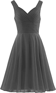 e8d10239989 ANTS Women s Pleated Sweetheart Bridesmaid Dresses A Line Cocktail Gown