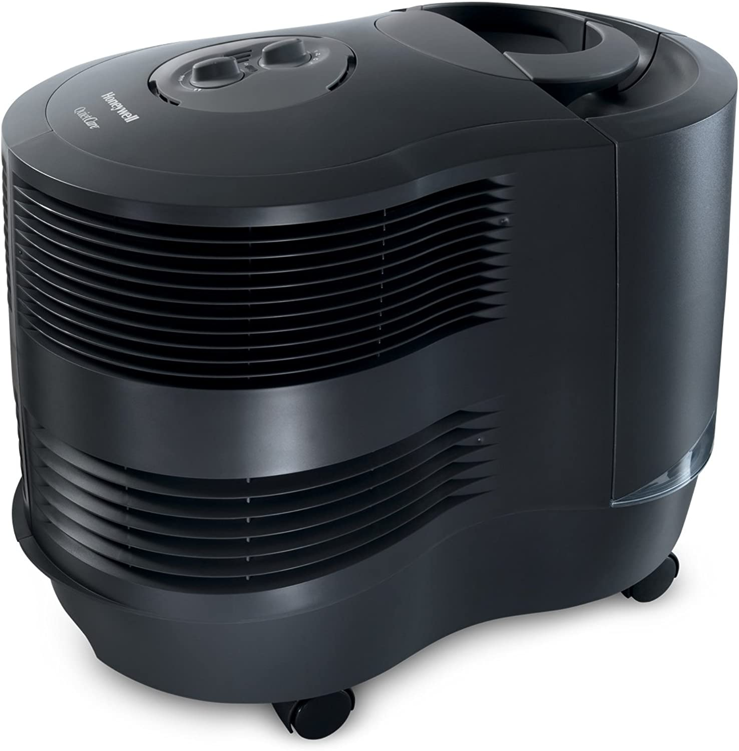 Honeywell HCM6011GV1 Cool Moisture Humidifier Black With Auto Shut-Off, Variable Settings, Adjustable Humidistat & Wicking Filter for Large & Multi Rooms, Bedroom, Baby Room
