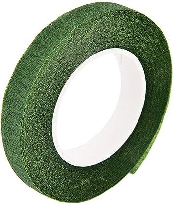 Ogquaton 30mX12mm Tige de Ruban adhésif Autocollant Floral pour Guirlande Guirlande DIY Artisanat Soie Artificielle Fleur Vert