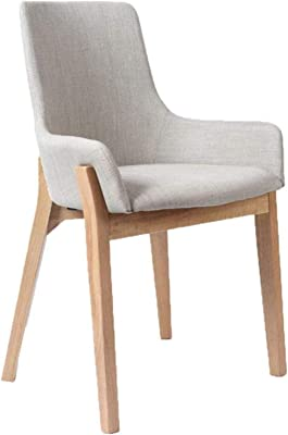 New Ergonomic Solid Wood Dining Chair, Coffee Shop Table and Chair Combination Simple Modern Western Restaurant Chair,Yellow,Grey,Colour Name:Grey (Color : Grey)