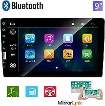 Doble DIN Radio de Coche Pantalla táctil de 9 Pulgadas Reproductor estéreo Bluetooth Radio FM Teléfono móvil Espejo Enlace USB 2DIN Reproductor de Video para automóvil