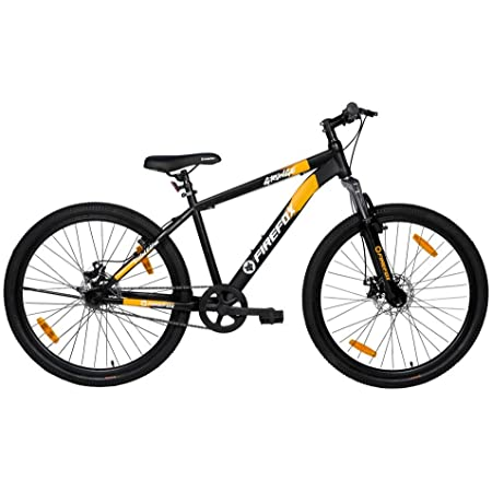 """Firefox Bikes Grunge-D , 27.5T Mountain Cycle (Black/Orange) I Disc Brake I Ideal For : Adults (Above 13 years) I Frame size: 17"""" I Unisex cycle I First Free Service Available"""