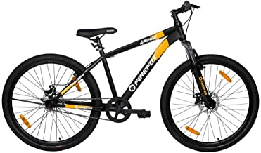 Firefox Bikes Grunge-D , 27.5T Mountain Cycle (Black/Orange) I Disc Brake I Ideal For : Adults (Above 13 years) I Frame si...