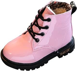 YanHoo Zapatos para niñas pequeñas Botas Niños Moda Niños Niñas Zapatillas de Deporte Invierno Gruesa Nieve Bebé Zapatos Casuales para niños Botines Impermeables