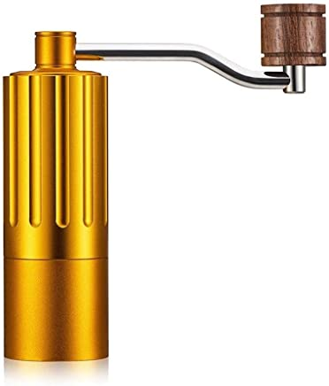 NJYDQ Manual Coffee Grinder, Whole Bean Conical Burr Mill for French Press/-Strongest and Heaviest Duty (Color : Gold)