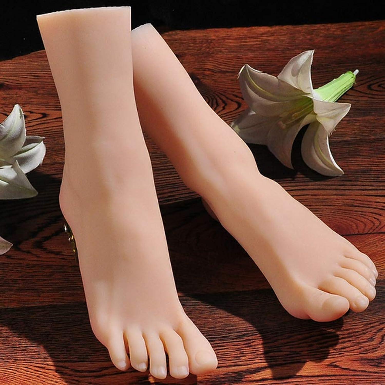 YUFG 1 Paar Silikon Leben Gre Weiblich Mannequin Fu Anzeige Jewerly Sandale Schuh Socke Anzeige Kunst Skizzieren