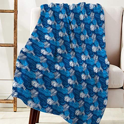 Manta Para Cozy Warm Reversible Throw Blanket Azul Blanco Planta Flores Blanket 125 X 100CM