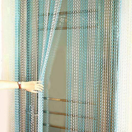 EBTOOLS - Cortina de metal para puerta de ventana, aluminio, 90 x 214,5 cm, aluminio y metal