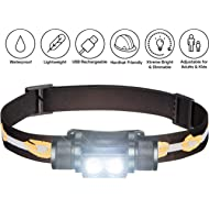 SLONIK 1000 Lumen Rechargeable 2x CREE LED Headlamp w/ 2200 mAh Battery - Lightweight, Durable,...