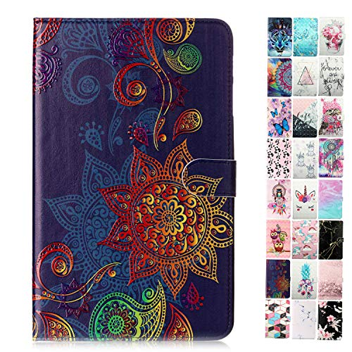 Coeyes Tablet-PC Hülle kompatibel für Universal 10 Zoll (9.5-10.5 Zoll) Muster Design Tasche Leder Flip Case Etui Schutzhülle Cover mit Kartenfach - Mandala-Totem
