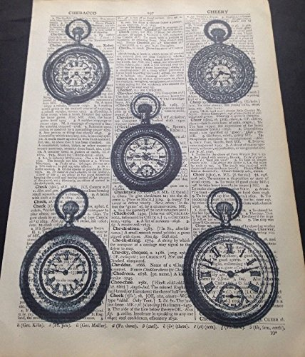 Parksmoonprints Clocks Vintage Dictionary Wall Art Picture Print Steampunk Alice In Wonderland Industrial Gramophone Camera Telephone steampunk buy now online