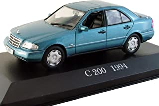 Mercedes-Benz C 200 1994 Year German Compact Executive Car 1/43 Collectible Model Vehicle Four-Cylinder Car by Automotive Manufacturer Mercedes-Benz