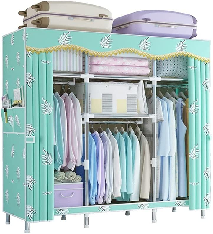 BIAOYU Wardrobe Polyester Foldable Max Limited price 77% OFF Standing Cl Closet