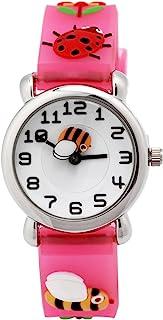 Relógio infantil 3D adorável com pulseira de silicone à prova d'água digital de quartzo redondo presente para professores ...