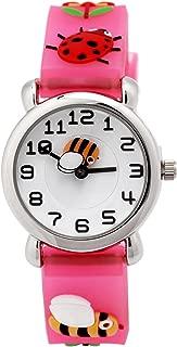 3D Lovely Cartoon Children Watch Silicone Strap Waterproof Digital Round Quartz Wristwatches Time Teacher Gift for Girls Boys Kids