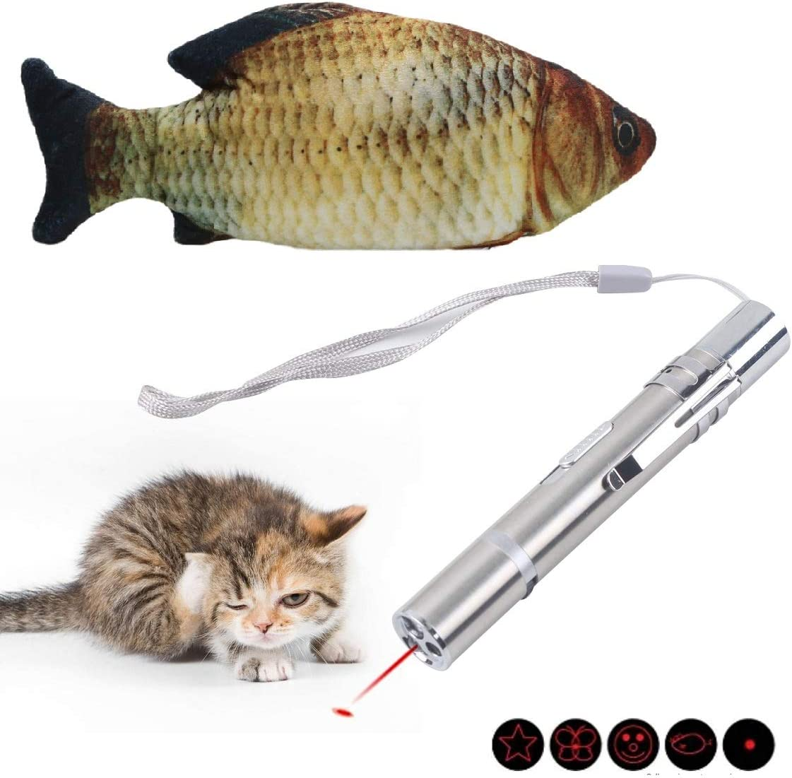 SEGE Max 85% OFF Electric Moving Cat Fish Wagging Time sale Toy Realistic Interactive
