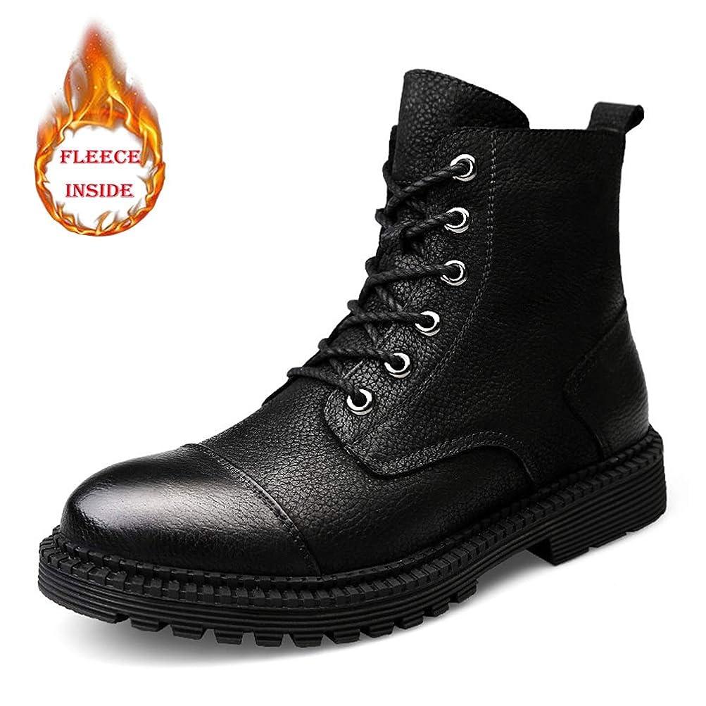 正確に換気するベール靴メンズファッション足首作業ブーツカジュアルコンフォートクラシックウィンターフリースインサイドウォームハイトップブーツ(従来のオプション)