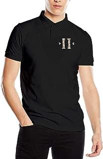 Yuliang Migos Culture II Mens Comfortable Polo Shirts Black