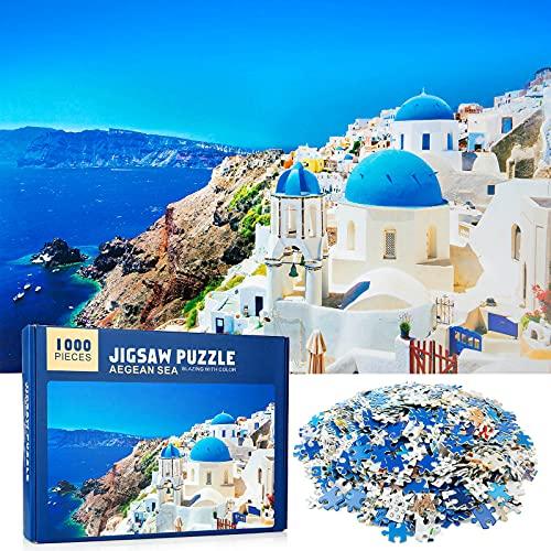 MOOKLIN ROAM Puzzle 1000 Piezas Mar Egeo, Puzzles Souvenir Regalo para Adolescentes y Adultos