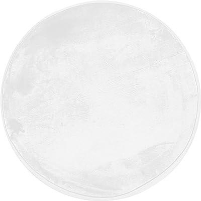 Tapis Aspect Velours Extra-Doux, 60cm x 60cm, Blanc