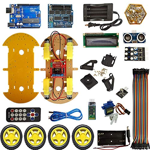 DXX-HR Smart Robot Car Kit Bluetooth multi-function car kit include FOR For R3,Ultrasonic Sensor, Bluetooth Module for