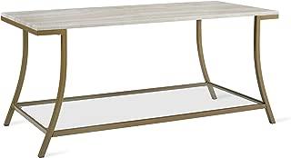 Novogratz Cecilia Coffee Table, Soft Brass, Faux Marble