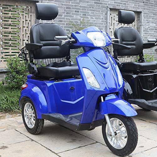 Green Power Scooter electrico de Movilidad Reducida Triciclo/Scooter Nuevo estabilidad 60V100Ah 800W Velocidad Hasta 25 km/h Azul