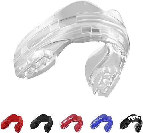 SAFEJAWZ Sport Protège-Dents pour Appareil Orthodontique. Protection intégrale pour Tous Les Sports, notamment Le Rug...