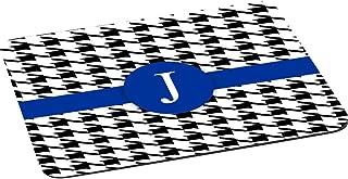 "Rikki Knight Letter""J"" Blue Houndstooth Monogram Design Lightning Series Gaming Mouse Pad (MPSQ-RK-46312)"