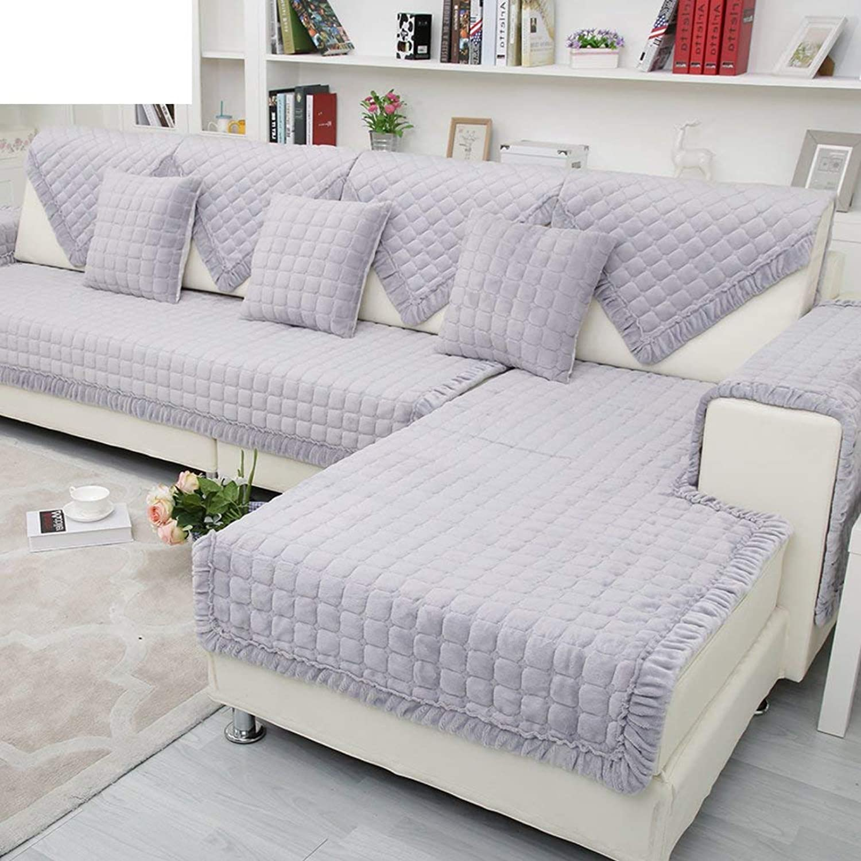 JEAQW Home Sofá de Felpa Simple Moderno Cojines de Franela Toalla B-90x210cm (35x83 Pulgadas)