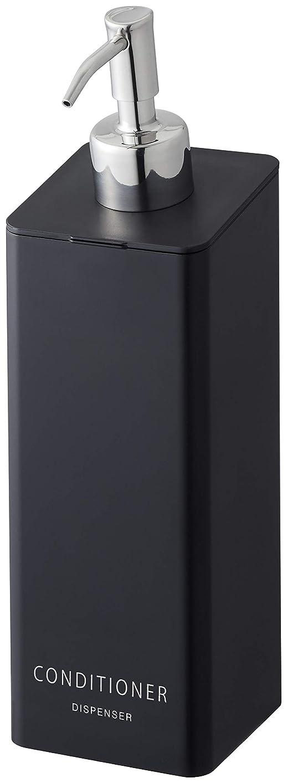 帰る信仰マウスピース山崎実業(Yamazaki) マグネットツーウェイディスペンサー コンディショナー ブラック 約W7XD9XH24cm タワー ポンプ ディスペンサーボトル 4261