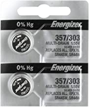 Energizer Battery 357/303 Multi Drain Silver Oxide 1.55V ((2pcs per Pack)
