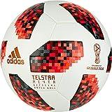 adidas Herren FIFA Fussball-Weltmeisterschaft Knockout Offizieller Spielball Ball, White/Solred/Black, 5