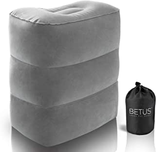 BETUS DREAMER COMFORT Inflatable Foot Rest Travel Pillow - Ultra Comfortable and Compact - Toddle & Kids Leg Rest Stool for Long Flight/Trip by Airplane or Car