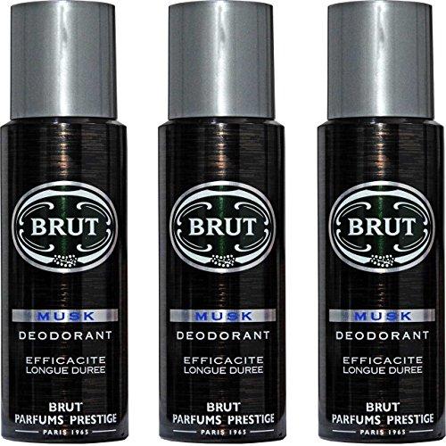 3x Brut MUSK Deodorant -langanhaltend - 200ml