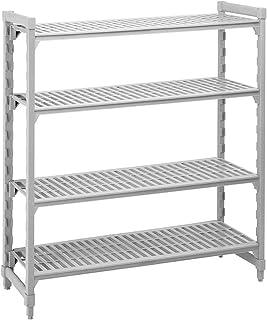 "Cambro Shelving Starter Unit, 60"" x 21"" x 64"", 4 shelves Speckled Gray CPU216064V4-480"