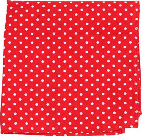 Rosso / Bianco Polka Dot fazzoletto di Knightsbridge Neckwear