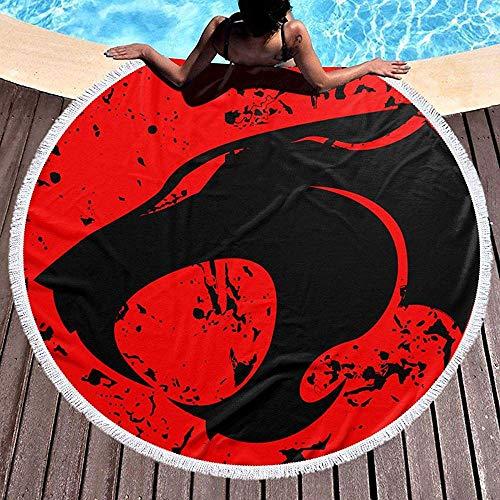 Duanrest handdoek voor strand, rond, strandhanddoek, oversize, met nappen, logo Thundercats
