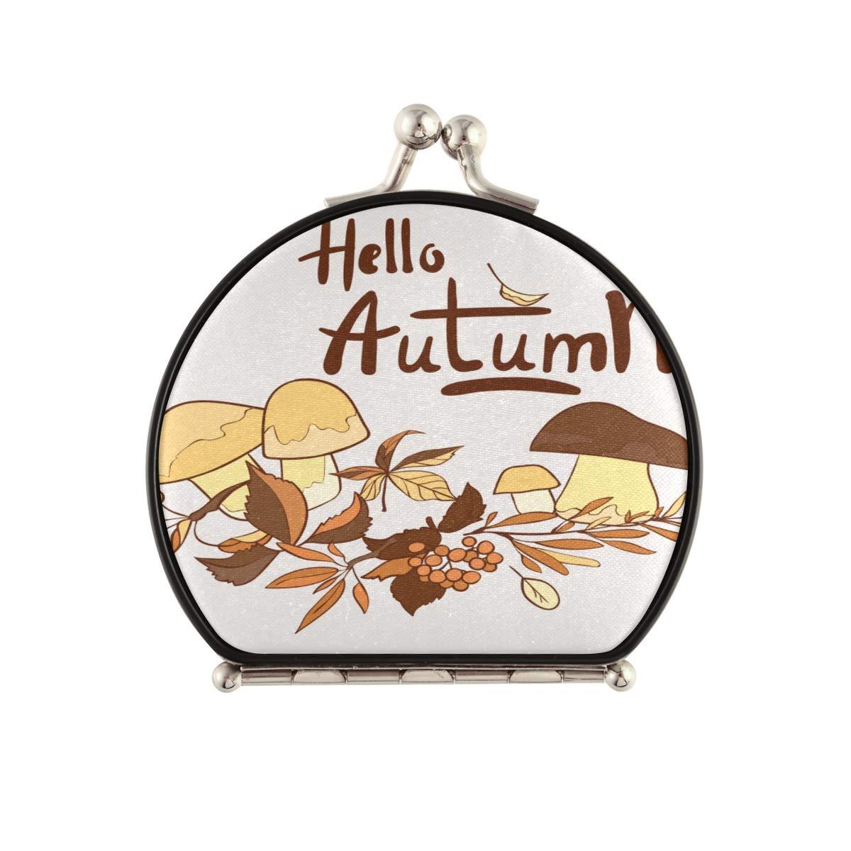 Men'sCompactMirror Wild Fort Worth wholesale Mall Life Mushroom Cute Cartoon PortableCo